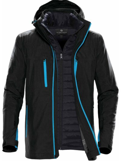 Stormtech Men's Matrix System Jacket Black and Electric Blue