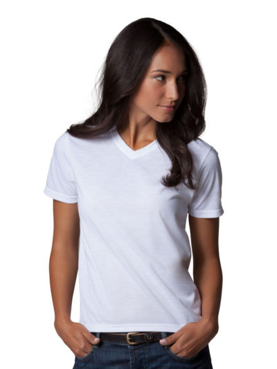 Women's Short Sleeve Subli Plus V-Neck T-Shirt
