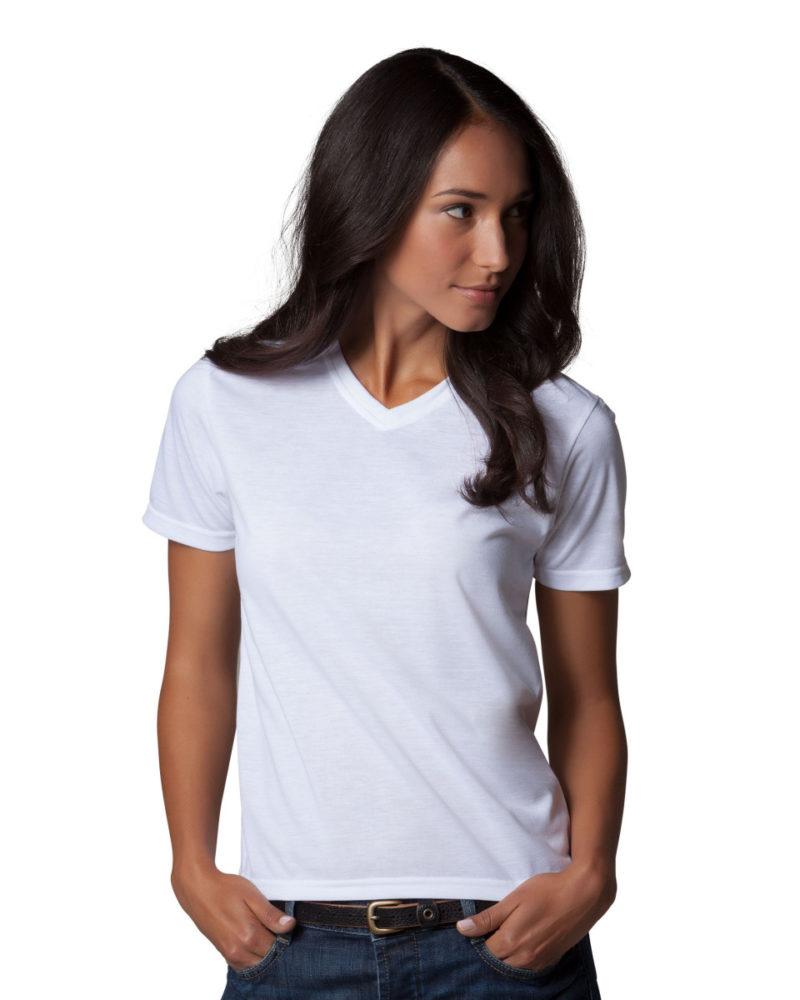 Women's Short Sleeve Subli Plus V-Neck T-Shirt