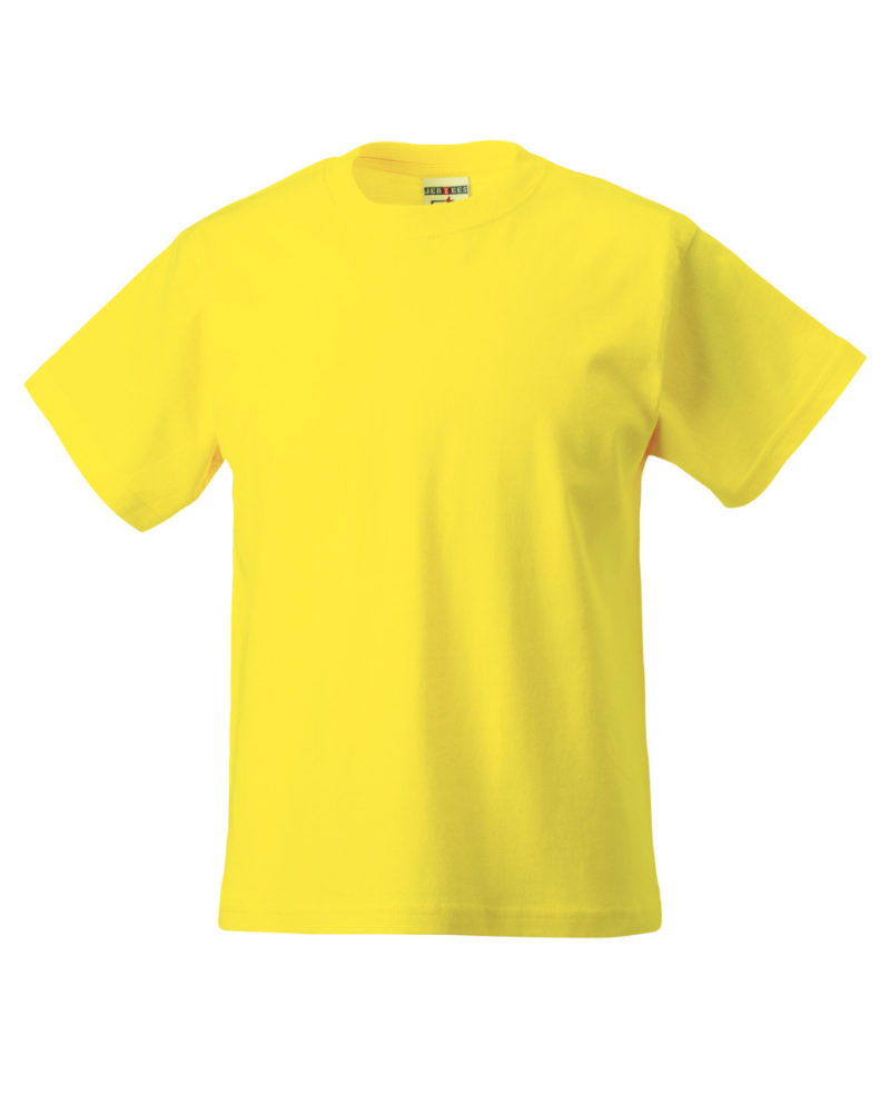 Russell Children's Classic T-Shirt Yellow