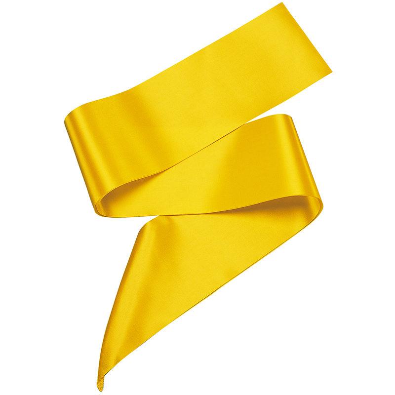 Polyester ribbon sash