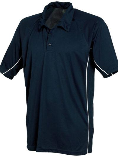 Performance wicking polo shirt